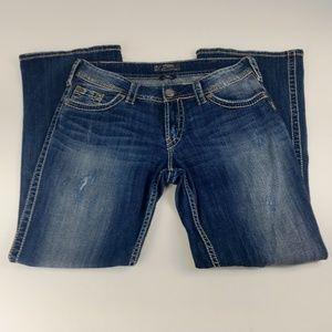Silver Jeans Size 31x30 Suki Surplus Distressed